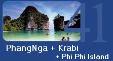 PhangNga Krabi and PhiPhi Island